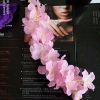 Elegante flor artificial Wisteria Flor Vine 34 cm Home Garden Wall Colgando DIY Ratán para el Hotel Navidad Fiesta Decoración de la boda 115 J2