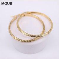 MGUB Sei dimensioni Donne orecchini cerchio orecchini regalo gioielli classico orecchini con cerchio classico color oro in acciaio inox donne 2020 nuovo HX341