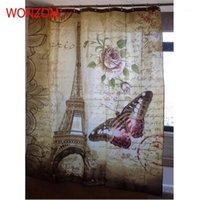 Wonzom برج إيفل ماء دش الستار باريس ديكور الحمام مشهد الديكور كورتينا دي بانو 2020 حمام الستار هدية 1