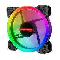 Fans Kühlungen Coolmoon F-GM1 Computer-Fall-PC-Kühllüfter RGB Passen Sie 120mm Ruhet + IR-Fernbedienungskühler-CPU-Fan1