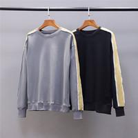 Pareja 20FW Nuevo producto Hombres camiseta de alta calidad jersey suelto ocasional de las mujeres Tamaño hoodie de la manera que empalma suéter suéter M-2XL