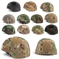 Sport all'aria aperta Airsoft Gear Gear Casco Accessorio Tactical Mutil Colors Camouflage Copertura del casco di stoffa per M88 Casco P01-132B