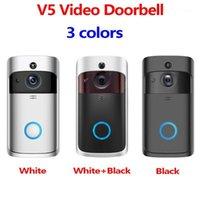 Smart Video Doorbell V5 720P HD sensor Night Vision Dois Way Audio Smart Phone App Control Long Life Battery WiFi1