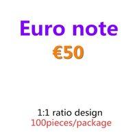 Copier le papier et le film Best Money 50 Billets de billets de billets Pretend Bar ProP Euro 100 pcs / Pack 05 BJPAG