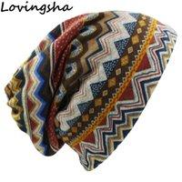 Bonnet / Crâne Casquettes Lovingsha Automne Hiver Crullies Sonnettes Vintage Design Dual-Usage Femmes Chapeaux Pour Dames Fille Fille Fille Feminino Scarf HT