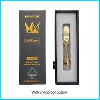 12 sapori Carening Vape Carts Packaging West Coast Coast Cure Vape Pen Pen Gold Carres 510 Filo con regalo Dank Vapes Box Best Selling