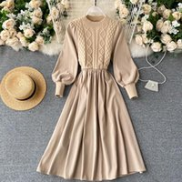 Lady Retro Autumn and Winter New A- line Dress Women Fashion ...