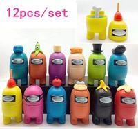 12pcs / lot parmi les poupées de jeu américaines Figure Toys Toys Computer Computer Cadeaux de Noël pour cadeaux de nouvel an pour enfants
