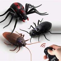 Infrarot-RC-Fernbedienung Tier Insekten Spielzeug intelligente Kakerlaach Spinne Ameise Insekt Scary Trick Halloween Spielzeug Weihnachten Kinder Geschenk 201208