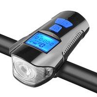 أضواء دراجة ماء ضوء قوي دراجة المقود المصابيح الأمامية ركوب الدراجات usb قابلة للشحن مع القرن والسرعة