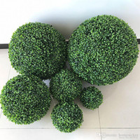2PCS Large size Green Artificial Plant Ball Topiary Tree Box...