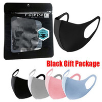 US LAGER! Anti Staub Gesichtsabdeckung PM2.5 Maske Respirator Staubdichtes Antibakteriell Waschbar Wiederverwendbare Ice Silk Cotton Mask