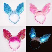 Head Hoop LED Light Up Toys Wing Flash из светло-ангела перья волосы орнаментальный светильник Люминесценция оголовье вечеринка фабрика прямой SELLIG 1 9XZ P1