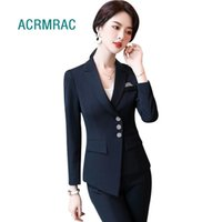 Women suits spring irregular stripe blazers pants Office Lad...