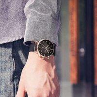 Relógios de relógios Personalidade Guou Moda Temperamento Multi Business Funcional Masculino Couro Strap Calendário Relógio D4UP