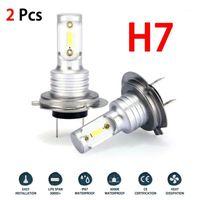 H7 سيارة الصمام المصباح المصابيح التحويل عدة مرحبا / لو شعاع 55 واط 8000lm 6000 كيلو سوبر مشرق السيارات كشافات الضباب ضوء bulb1