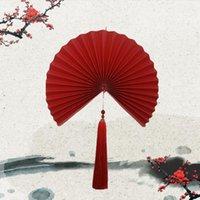 Party Favor Chinese Red Paper Składany Wentylator Wentylator Dekoracji Wiszące Pakiet Duży Drukowane prezent Składane dekoracyjne fanów