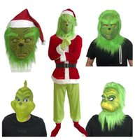 Santa Grinch Costumes How The Grinch Cosplay Costume Adult H...