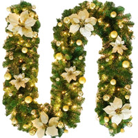 2. 7 M Christmas LED Rattan Garland Decorative Green Christma...