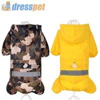 Dresspet Pet Dog Raincoat 100% imperméable polyester manteau veste pour petits chiens moyens vêtements de pluie XXL Y200917