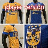 20/21 Tigres Uanl 7 étoiles Jersey Jersey Accueil Version du joueur Mexique Club Tigres Jaune Gignac Vargas Ayala Jerseys Football Shirts