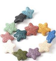 Mode vergoldet starfish herz liebe lava stein halskette ätherisches öl diffusor vulkanische rock ps0952