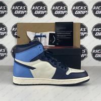 최고 품질의 og 남자 여자 농구 야외 신발 흑요국 UNC 터보 그린 바이오 해킹 레트로 높은 1s 줌 트레이너 상자 선물