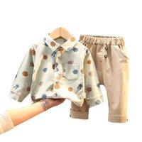 Primavera otoño niños moda camisa pantalones niño bebé niñas imprimir ropa niño disfraces ocasional niños turno de turno