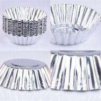 Material de aluminio Moldes de tarta de huevo Moldes circulares Torta Moldes espesante Cocina Panadería Panadería Molde de hornear Nueva Llegada 0 24KN L1