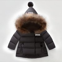 Kids Down Coat Winter Boy Girl Baby Outerwear Jackets Teen Clothing Hooded Thick Warm Outwear Coats Children Wear Jacket Fashion Classic Packas 5 Colors 80-130