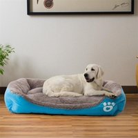 Drop Transport Multi-Color Pet Big Dog Bed Caldo Casa per cani calda Morbido Nest Dog Nest Canestro Impermeabile Kennel Cat Puppy Grande Kennel Y200330