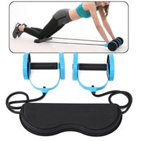 AB rulo abdominal eğitmen elastikiyet fitness tekerlek eğitimi ev spor kolu bel bacaklar egzersiz fitness ekipmanları vücut rulo Y201011