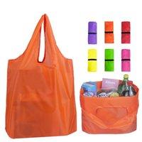 Folding saco de compras 12 cores organização Home Storage Bag Recycle sacos de armazenamento Oxford Tecido de compras reusáveis TRANSPORTE MARÍTIMO CCA12585