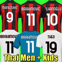 20 21 camisa de futebol masculina 2020 2021 kit de camisa de futebol infantil AC milão IBRAHIMOVIC PAQUETA BENNACER REBIC ROMAGNOLI CALHANOGLU TONALI