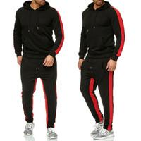 Jogger primavera y otoño deportes hombre traje de hombre algodón moda sudadera con capucha pantalones hombres ropa deportiva ropa deportiva gimnasia