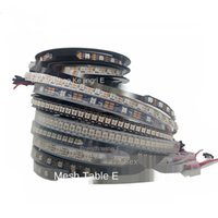 1m 2m 3m 5m 4m WS2812B WS2812 Led Strip, adressables intelligente Led RVB Strip, PCB noir / blanc étanche IP30 / 65/67 DC5V