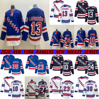 New York Rangers Trikots 13 Alexis Lafreniere 10 Artemi Panarin 24 KAAPO KAKKO 30 HENRIK LUNDQVIST 23 Adam Fox Hockey Jersey