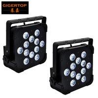 Gigertop New 12X18W Flat Iron Housing sem fio 2.4G Stage PAR LED Tyanshine RGBWA UV 6in1 Cor Birght silencioso DMX512 Working AUTO X 2