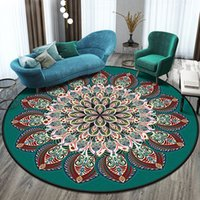 Home living room carpet bedroom room European retro geometri...