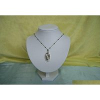 Wholesale Jewelry Display Stand Necklace Pendant Holder Wood Bust Torso With White Pu Leather Mannequin Protrait Zlutj
