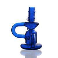 블루 부표 자료 봉 손수 만든 담뱃대 두께 자료 증기 물 파이프 14mm 조인트 볼 물 담뱃대 유리 봉