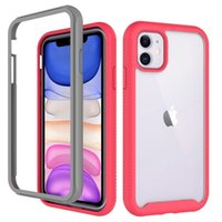 Transparent Clear Hybrid Armor Rugged Case for iPhone 8 7 6s...