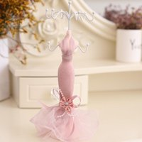 Resin Mannequin Earrings Display Rack Pink Lace Princess Dre...