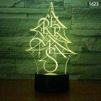 Weihnachtsbaum Schneemänner Tier Cartoon Insekt Musik Charakter 3D Illusion LED Lampe Nachtlicht Bunte USB Powered Mini Nachtlichter