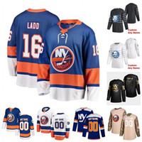 Costumbre Johnny Boychuk Andrew Ladd Brock Nelson Casey Cizikas Adam Pelech Andy Greene Anthony Beauvillier 2020 jerseys del hockey cosido