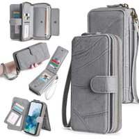 Wallet Leather Phone Case For Samsung S20 Magnetic purse business wallet designer phone cases for men and women