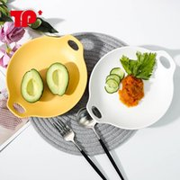 Nordic Modern Simple Western  Steak round Dish Creative Tren...
