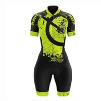 Vezzo Vêtements de vélo Été Femmes Vélo Jersey Costume Court Manchon Bord Shorts Set Pro Team MTB Road Uniform1