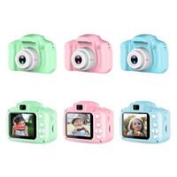 3 цвета детская камера дети мини цифровая камера мультфильм камера 8mp зеркальная камера игрушки для дня рождения подарок 2 дюйма