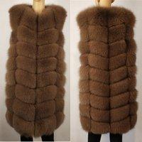Безиру настоящий меховой жилет жилет натуральный шерсть зима теплый натуральный длинный жилет истинные волосы без рукавов серебряные лисицы жилет бесплатная доставка 201103